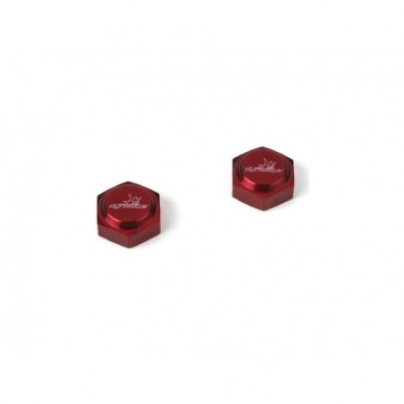 23mm Capped Wheel Nuts, Red...
