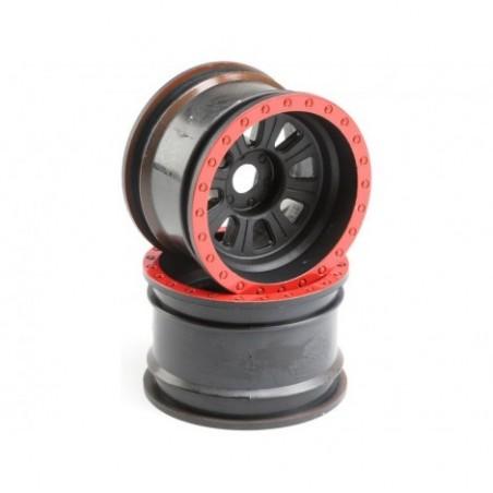 Losi Wheel, Black (2):...