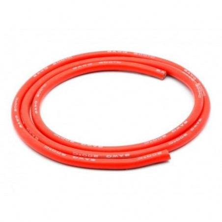 8AWG Silicone Wire 3', Red
