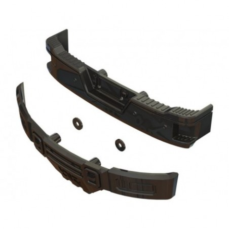Arrma Bumper Set, Black Chrome