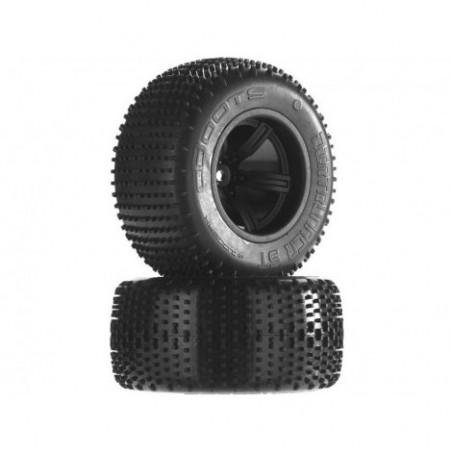 Arrma Dirtrunner ST Tire/Wheel Glued Blk Re (2)